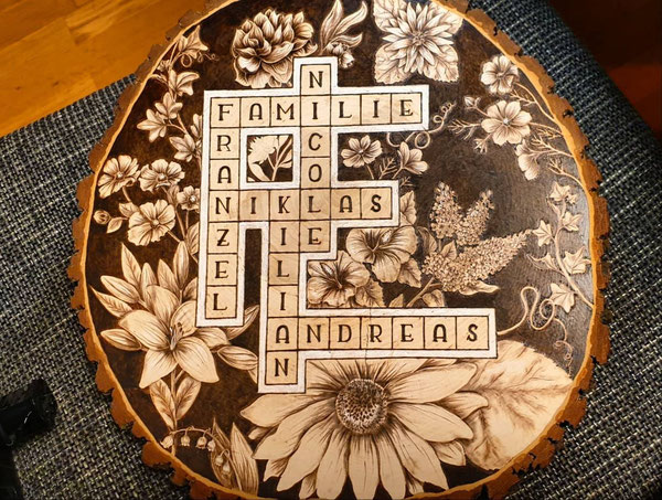 Solche Tafeln werden individuell an die Familie angepasst.