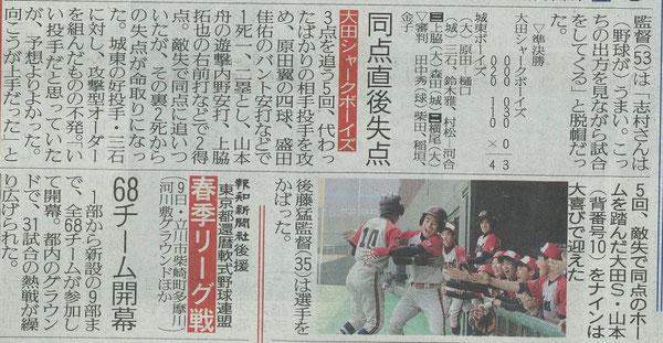 第8回大田区長杯 第43回春季全国大会予選 2013-3-14記事