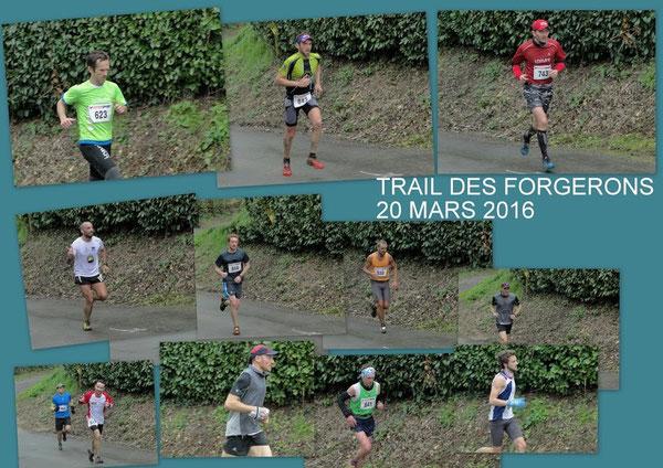 1,8km environ avant l'arrivée, au pied de l'ultime côte....                                                      les  Photos de Fran6  bénévole parmi tant d'autres du Trail des Forgerons