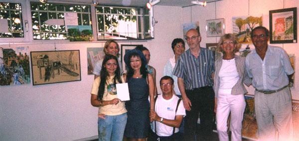 """Exposition """"concours des peintres dans la rue"""" - Galerie de l'UDAC - Paris XXème - 2003"""