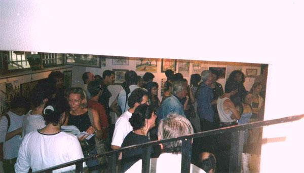 """Vernissage de l'exposition """"Peintres dans la rue"""" - Galerie de l'UDAC - Paris XXème - 2003"""