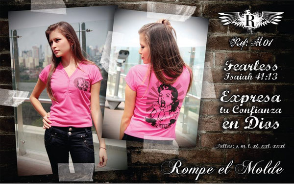 Camiseta Cristiana - Fearless