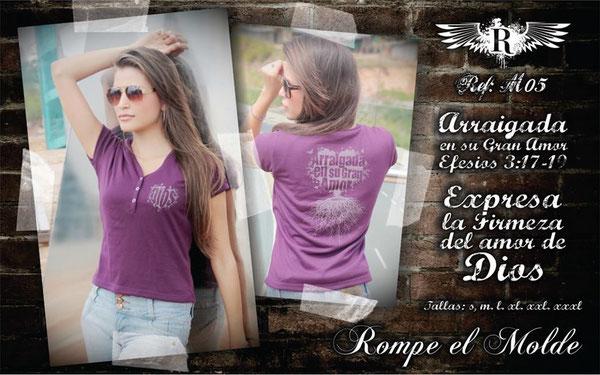 Camiseta Cristiana - Arraigada en su gran amor