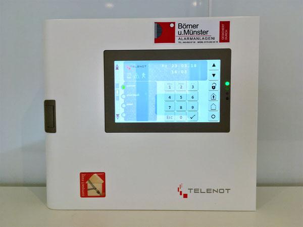 Telenot Touch Display für Einbruchschutz in Haus oder Wohnung
