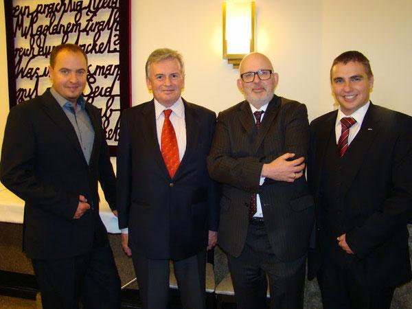 GR.Georg Palber,Vertreter Österreichs b d EU  Mag.Grahammer, österr.Botschafter in Japan a.D. Mag.Arnold Obermayr &GR.Roman Wutte