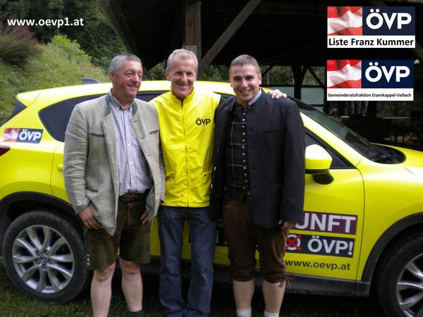 GR. Richard Zupanc, GPO.GR. Franz Kummer & GR. Roman Wutte