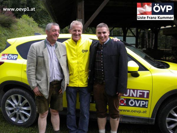 Richard Zupanc, Franz Kummer & Roman Wutte