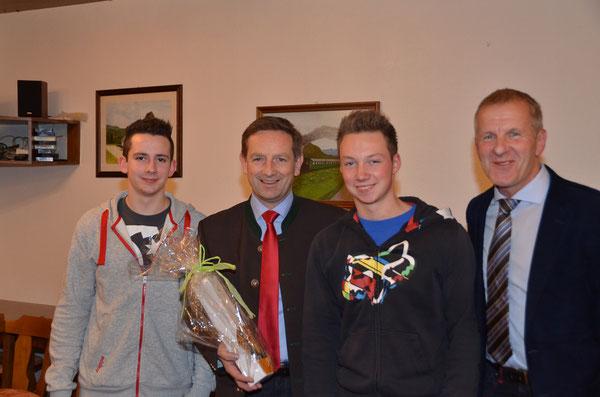 Raphael Hutter,LR.Christian Benger, Sandro Zupanc & GR.Franz Kummer