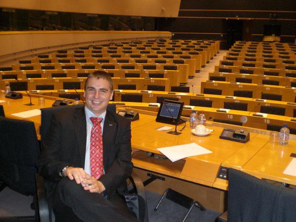 Probevorsitz im EU-Parlament in Brüssel
