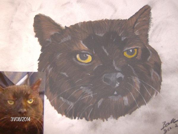 meine erste Katze die ich gemalt habe