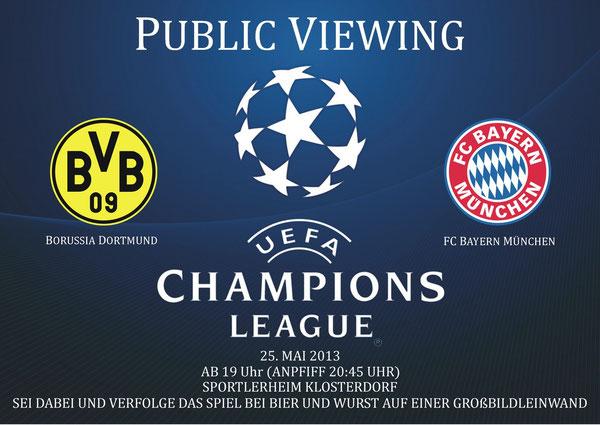 Plakat zum Public Viewing