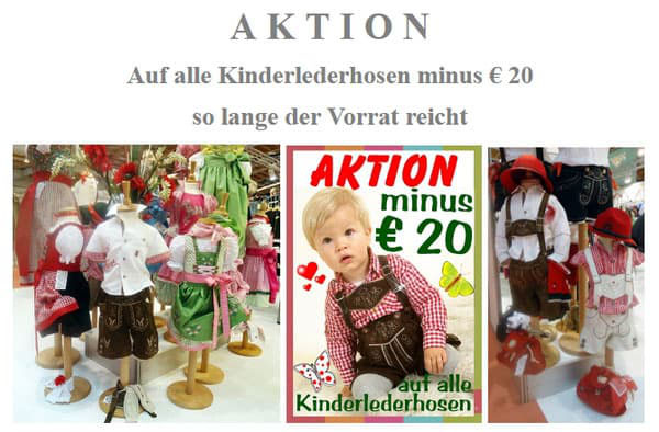 Kindertrachten - Größte Auswahl in Oberösterreich - Wandls Gwandl