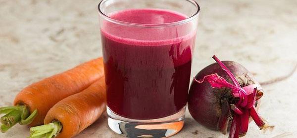 Beneficios del jugo de betabel, zanahoria y apio
