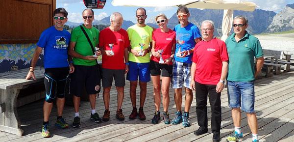 Deaf Berglauf Cup Coordinator Martin Larch; Club: 5.ANU Montebelluna - ITA, 4.GSZ Graz - AUT, 3.Südtiroler GSG - ITA, 2.Wiener GSC - AUT, 1.GSV Tirol - AUT; Bürgermeister/Major Alleghe, Claudio Geronazzo - Organizer Alleghe