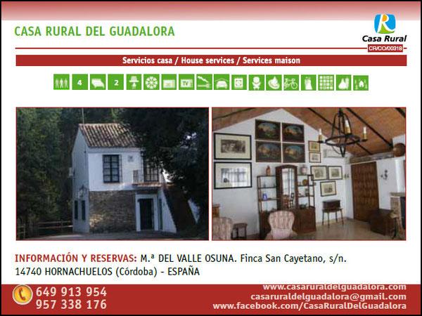 """TARIFAS - CASA RURAL DEL GUADALORA - Haz """"clic"""" en la imagen para ampliar."""