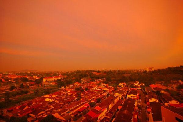 マラッカの夕焼け。真っ赤っかだったなぁ。