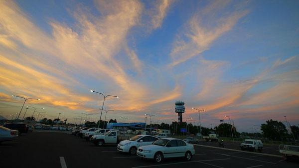 こんなにキレイな夕焼け空も見れてラッキー。