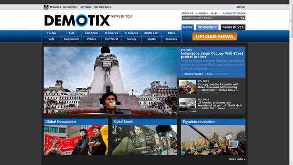 Demotix Front Page 16/10/2011