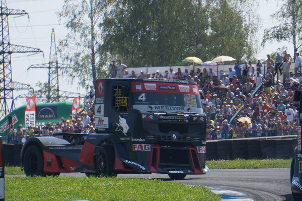 №4. Гонщик: MARKUS OESTREICH. Команда: MKR TECHNOLOGY. Грузовик: RENAULT TRUCKS. Участок Т11