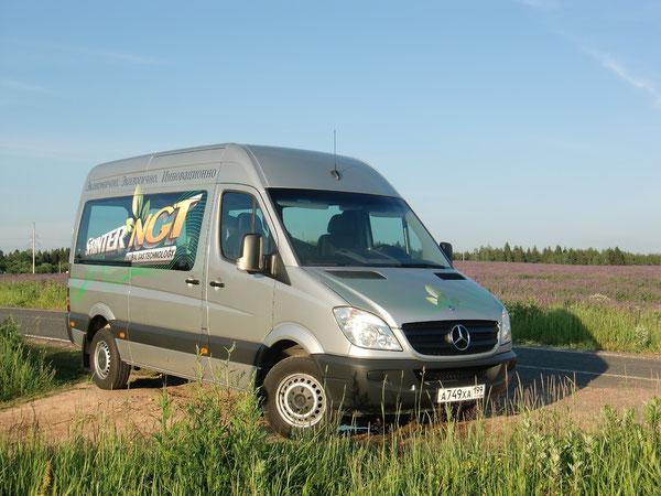 """Производитель: DaimlerTruck AG. Модель: Mercedes-Benz 316NGT Sprinter 906KA35. Автомобиль на тест предоставлен компанией """"ЗАО Мерседес-Бенц РУС"""". Трасса Москва-Санкт-Петербург. 18.06.2011."""