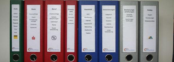MWS-Buchhaltungsservice, Ordner, System