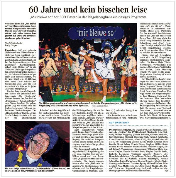 Saarbrücker Zeitung vom 31.01.2013