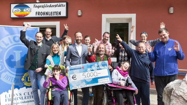 LC Frohnleiten Clubvorstand bei der Scheckübergabe an Leib&Söl | 4.Mai 2016 | Foto: Rene Vidalli |www.vidalli.at