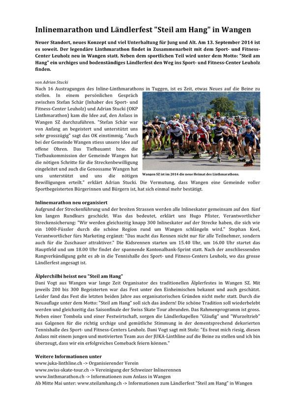 Zeitungsbericht 2014