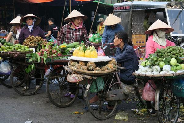 Les cyclo-vendeuses de fruits