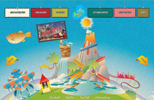 Многоцветный дизайн сайта