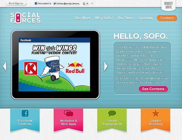 Цвет в веб-дизайне. Яркий и насыщенный.