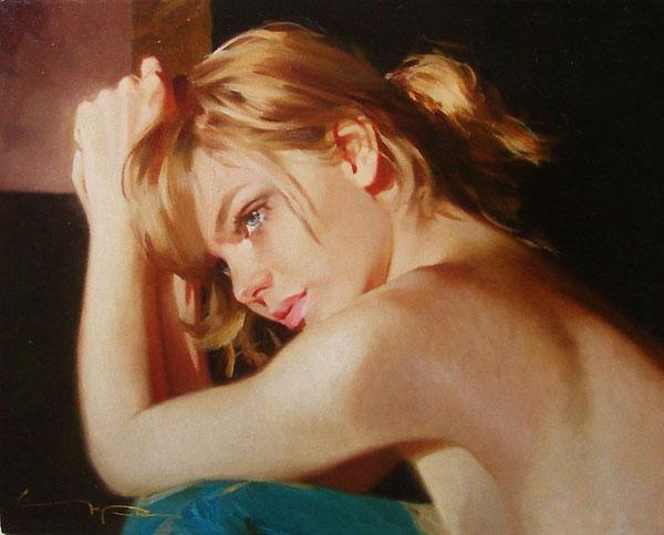 Картина художника Алексея Чернигина  На рассвете