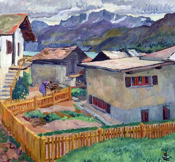 Capolago с видом на Корвач, 1926