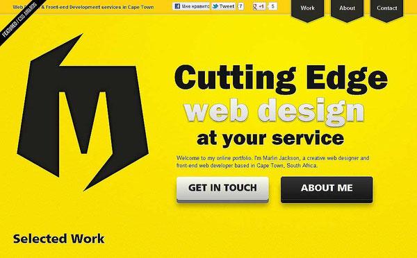 Дизайн сайтов в желтом ключе
