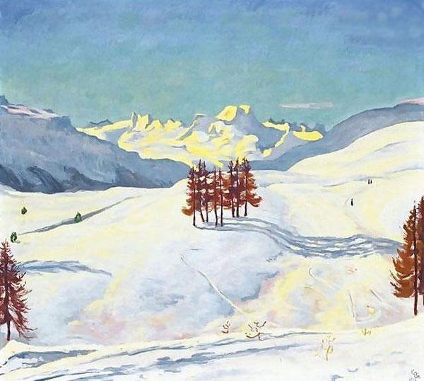 Зимнее рядом с Санкт-Мориц, 1916
