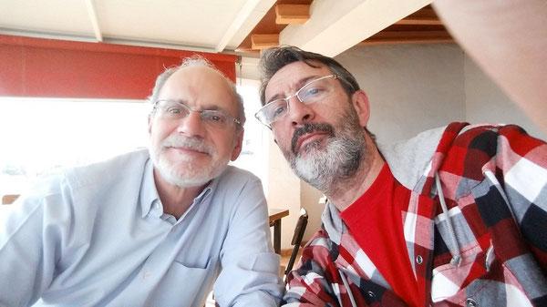Selfie  con José Antonio en la Venta del Cojo. Febrero 2015.