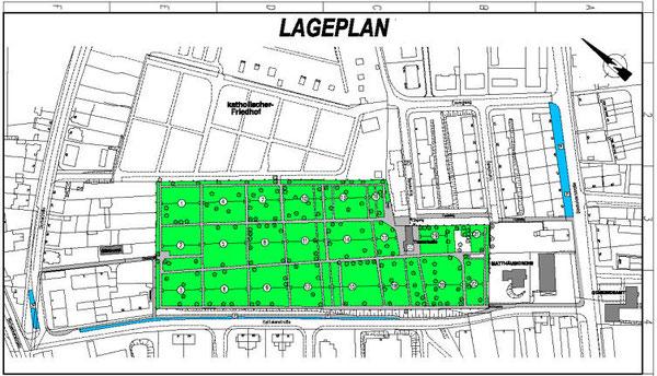 Lageplan des Matthäusfriedhofes