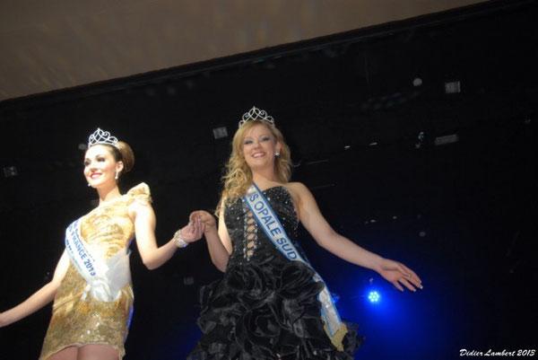 Miss Opales Sud 2012 et Miss Nord Pas de Calais 2ème Dauphine de Miss france