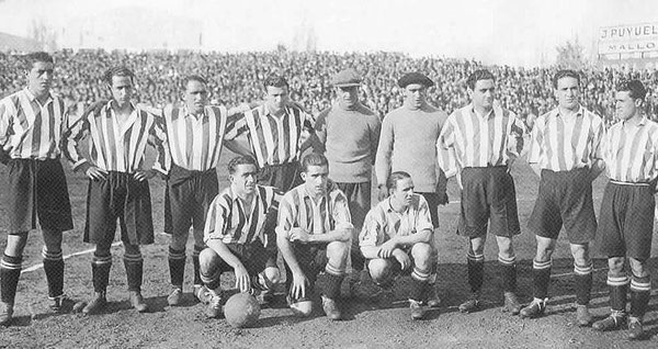 El equipo titular del Athletic Club en 1931