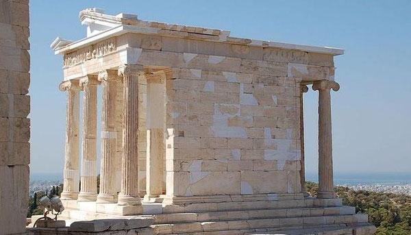 Templo de Athenea Niké en la colina sagrada de la Acrópolis