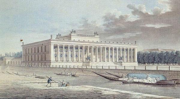 Grabado de F. Thiele: Altes Museum de Berlín