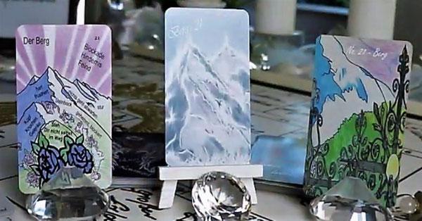 Lenormandkarte der Berg verschiedene Lenormanddecks