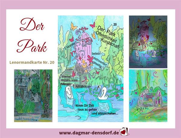 lenormandtageskarte-park