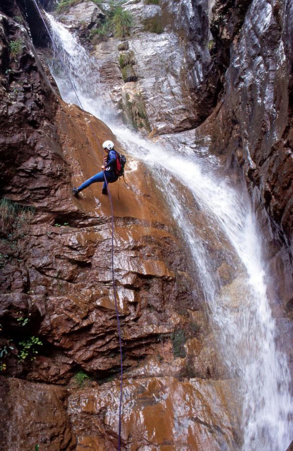 Die große Wasserfallserie - der Höhepunkt des Corva.