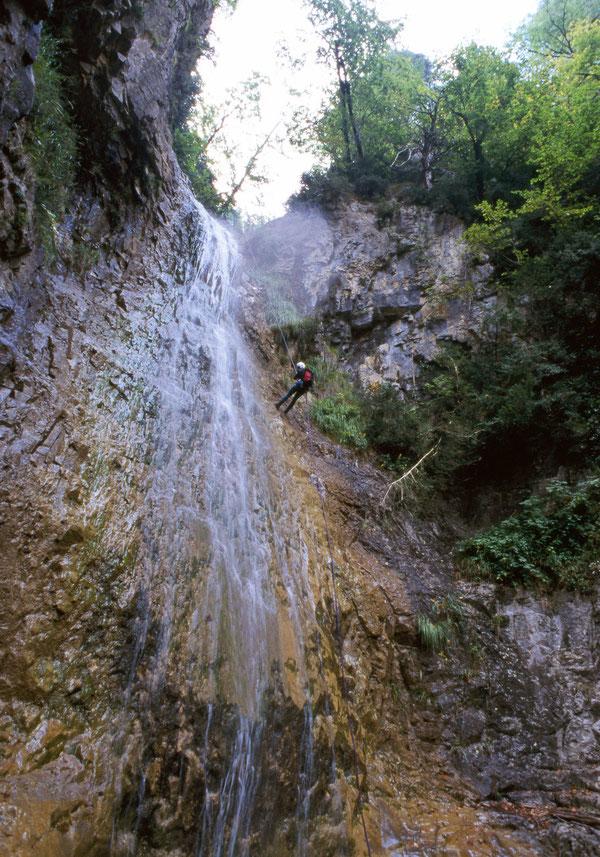 Grün, dampfig und steil -  der Barranco de Trigas!