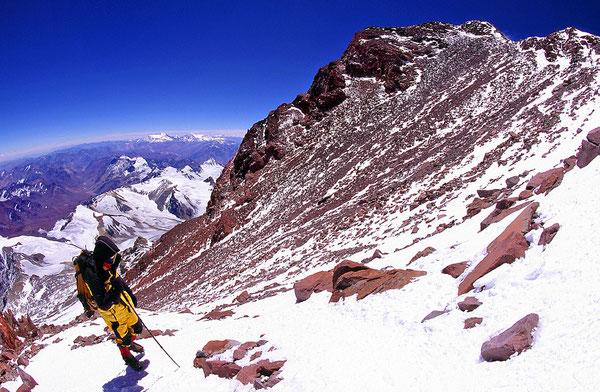 Pato auf den letzten Metern zum Gipfel.