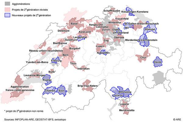Les projets d'agglomération en Suisse