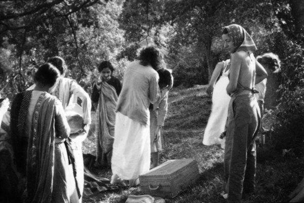 India : Delia on the right with scarf on her head ;  Courtesy of MN Collection Courtesy of MN Collection