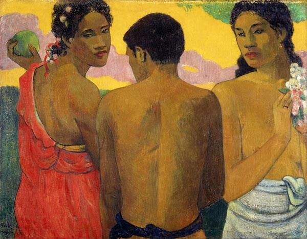 """Paul Gauguin, """"Three Tahitians"""" (1899)"""