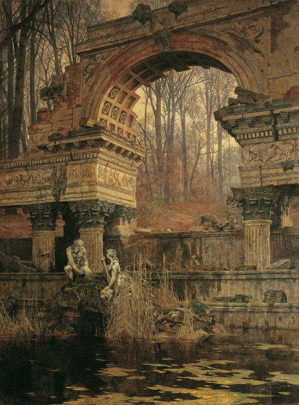 """Carl Moll, """"Le rovine romane di Schönbrunn"""" (1891)"""
